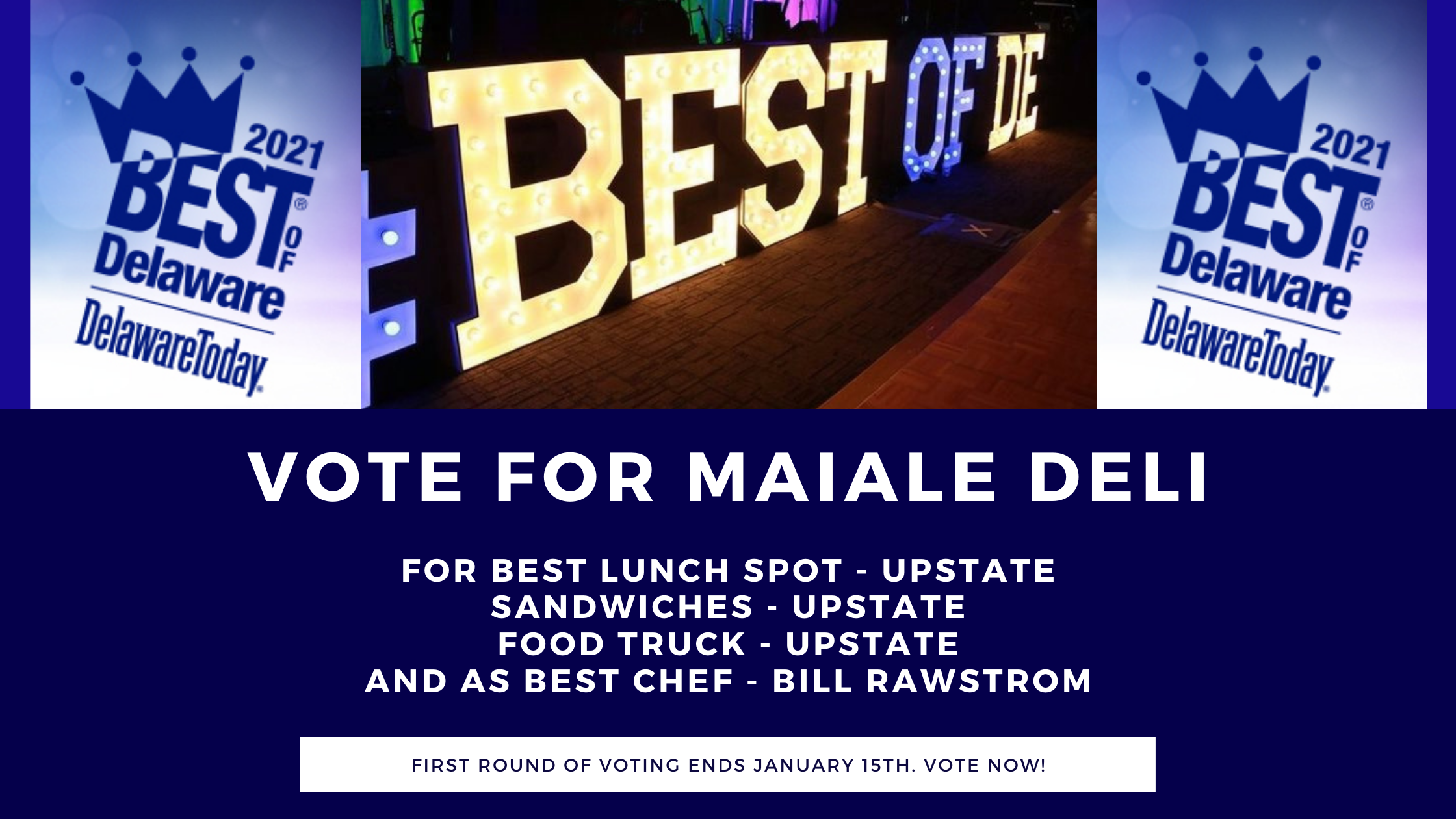 Vote for Maiale Deli in the Best of Delaware 2021
